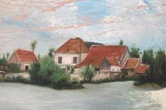 1900 environ - Le moulin vue du bassin peint par Mr Johannet