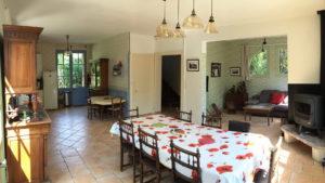 Salon Cuisine Séjour - Rez-de-chaussée - Moulin Isle Auger