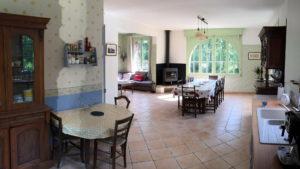 Cuisine Séjour Salon - Rez-de-chaussée - Moulin Isle Auger